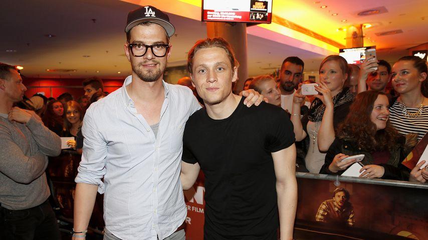 Moderator Joko Winterscheidt und Schauspieler Matthias Schweighöfer 2015 in München
