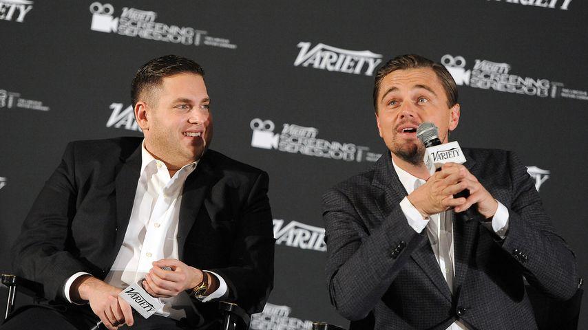 "Jonah Hill und Leonardo DiCaprio beim ""The Wolf of Wall Street""-Screening"