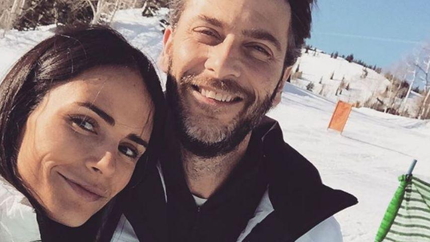 Jordana Brews und ihr Mann Andrew Form im Skiurlaub