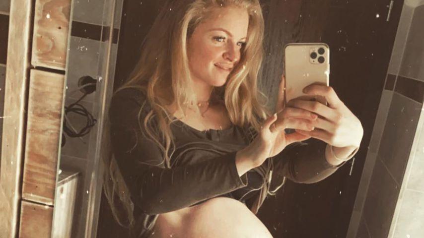Josephine Welschs Babybauch am 6. März 2020