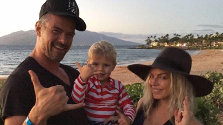 Josh Duhamel, sein Sohn Axl und Fergie, 2017