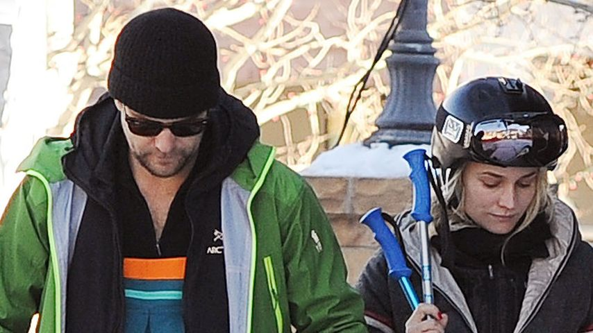 Diane Kruger & Joshua Jackson schmollen im Schnee