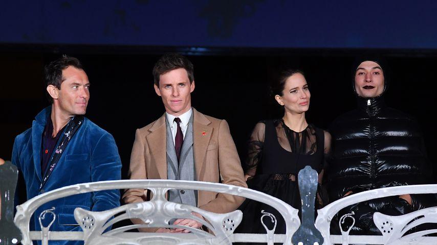 Jude Law, Eddie Redmayne, Katherine Waterston und Ezra Miller