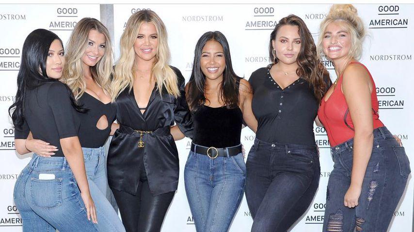 Julia Kelly, Emily Sears, Khloe Kardashian, Emma Grede, Anna Krylova und Sarina Nowak in Kalifornien
