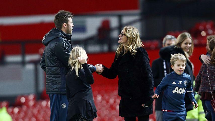 Julia Roberts und Fußballer Michael Carrick in Manchester