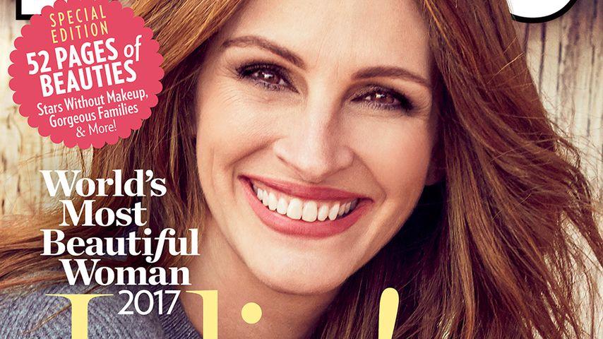 """Rekord! Julia Roberts zum 5. Mal """"Schönste Frau der Welt"""""""