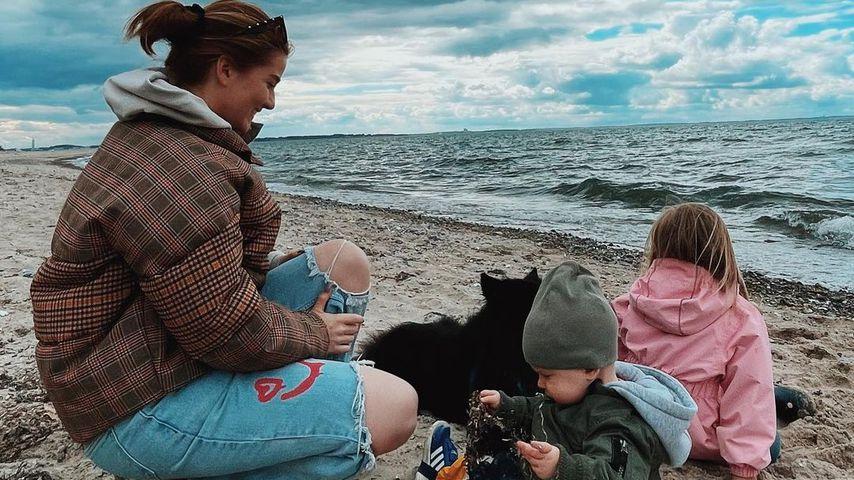 YouTuberin Julia Schulze mit ihren Kids