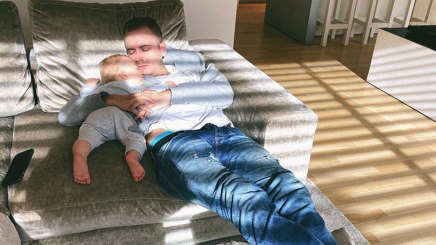 Julian Claßen mit seinem Sohn Lio