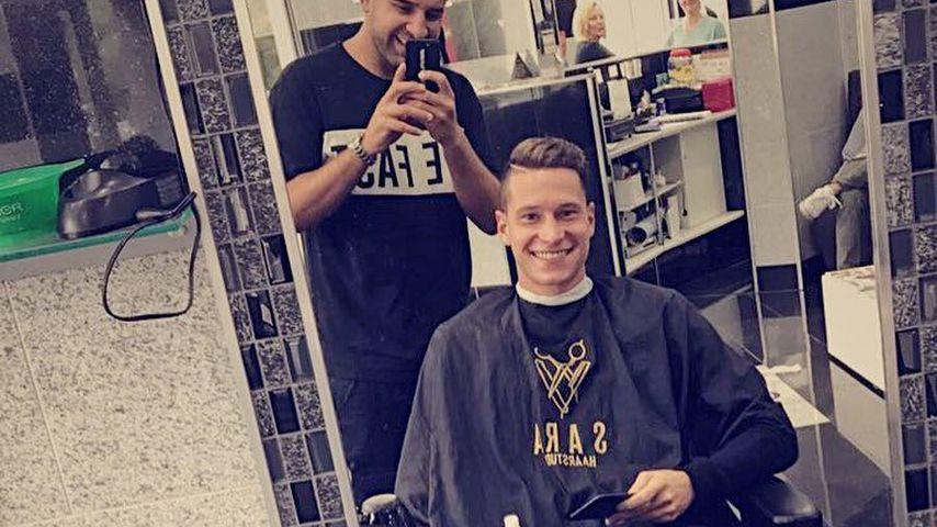 Julian Draxler beim Friseur