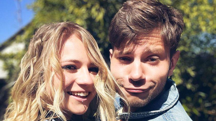 Julian Reim und seine Freundin Sarah im April 2021 am Bodensee