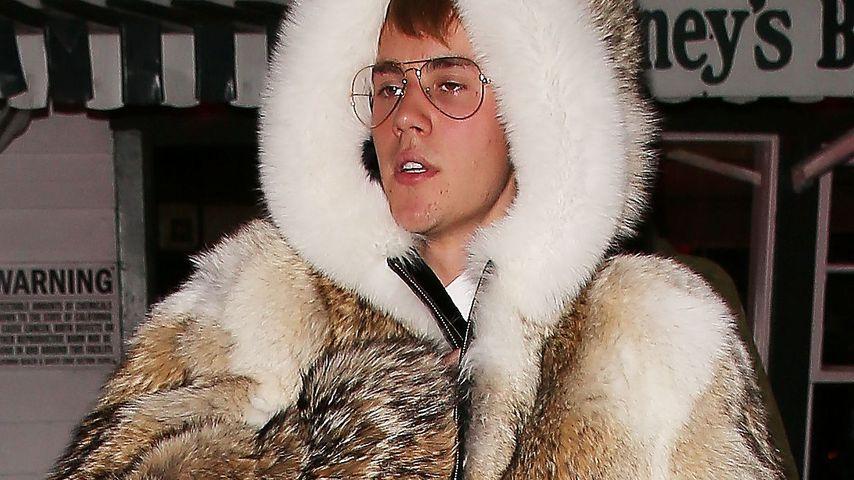 Fashion-Desaster: Justin Bieber verstört mit XXL-Pelz-Look!