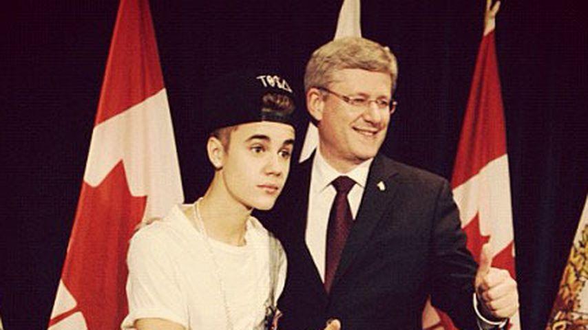 Justin Bieber: In Latzhose zum Politiker-Treff