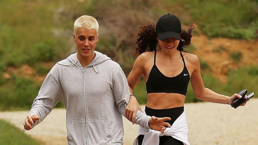 Erwischt! Justin Bieber & heiße Brünette turteln beim Sport!