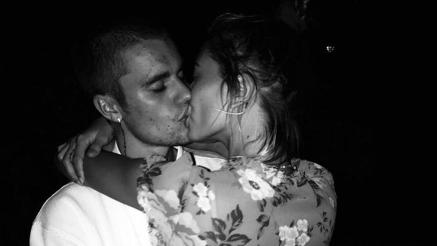 Von wegen Krise: Justin Bieber teilt Knutsch-Pic mit Hailey