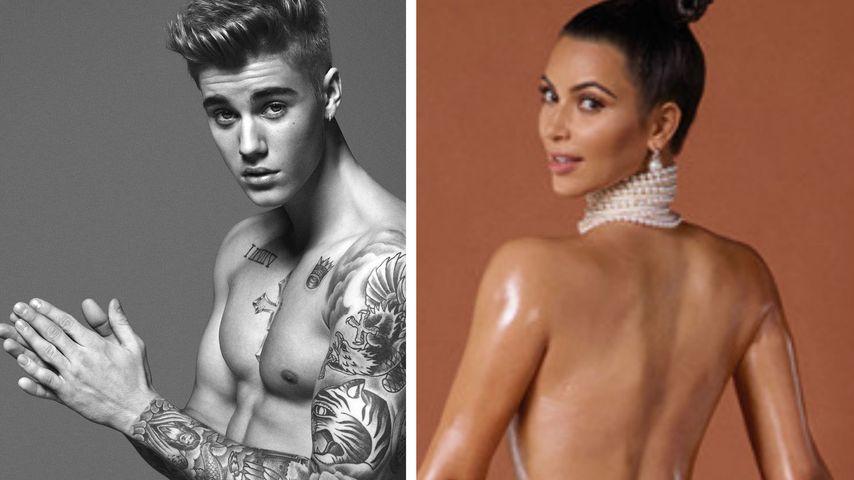 Sieg! Justins kleiner Bieber schlägt Kims Popo-Pic