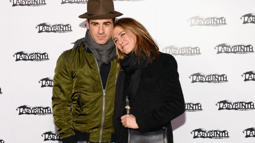 Justin Theroux und Jennifer Aniston im November 2015