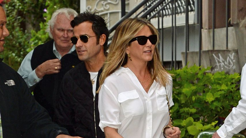 Justin Theroux und Jennifer Aniston in NYC