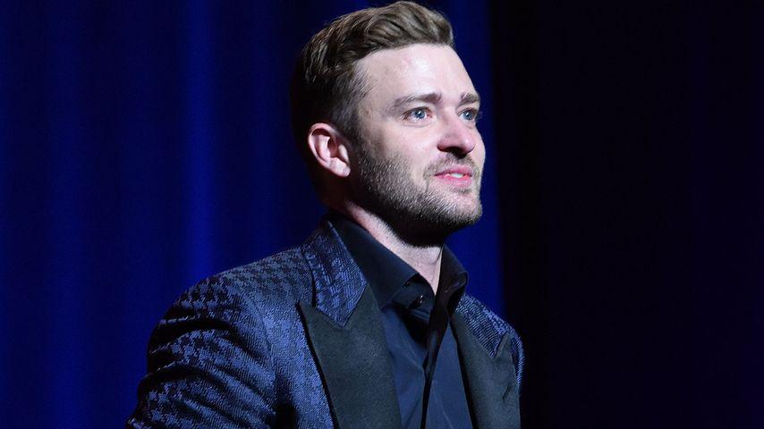 Weinender Justin Timberlake: Bei Rede dankt er Jessica Biel
