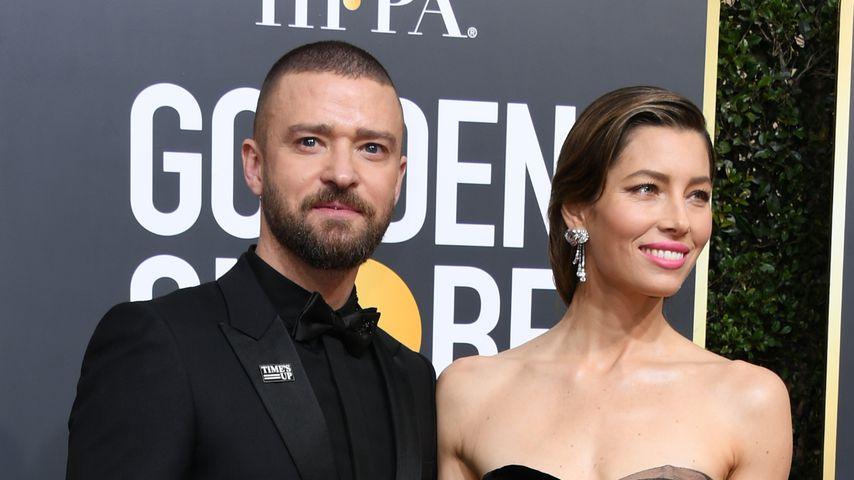 Justin Timberlake und Jessica Biel, Golden Globes 2018