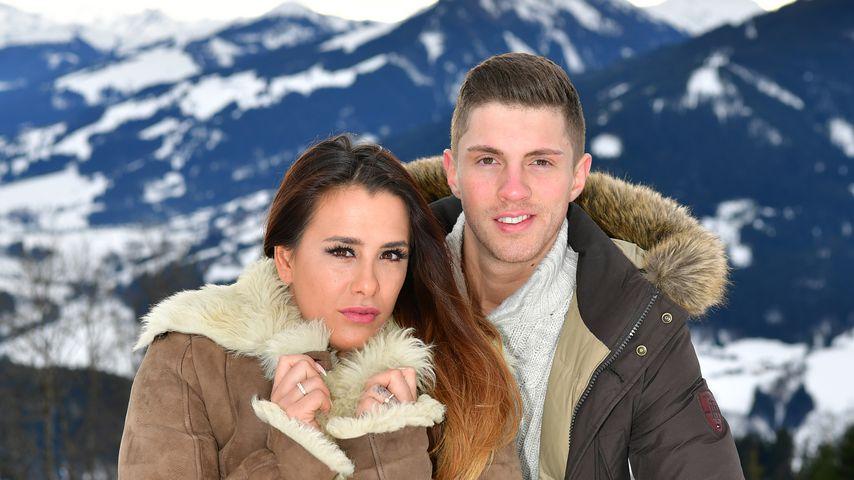 Justine und Joey Heindle beim Urlaub in Kitzbühel, Januar 2018