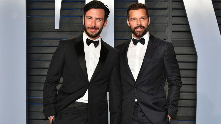 Jwan Yosef und Ehemann Ricky Martin auf der Vanity Fair Oscar Party 2018
