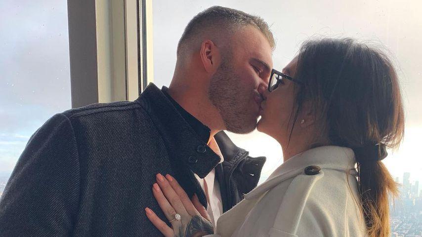 JWoww mit ihrem Verlobten Zack Clayton