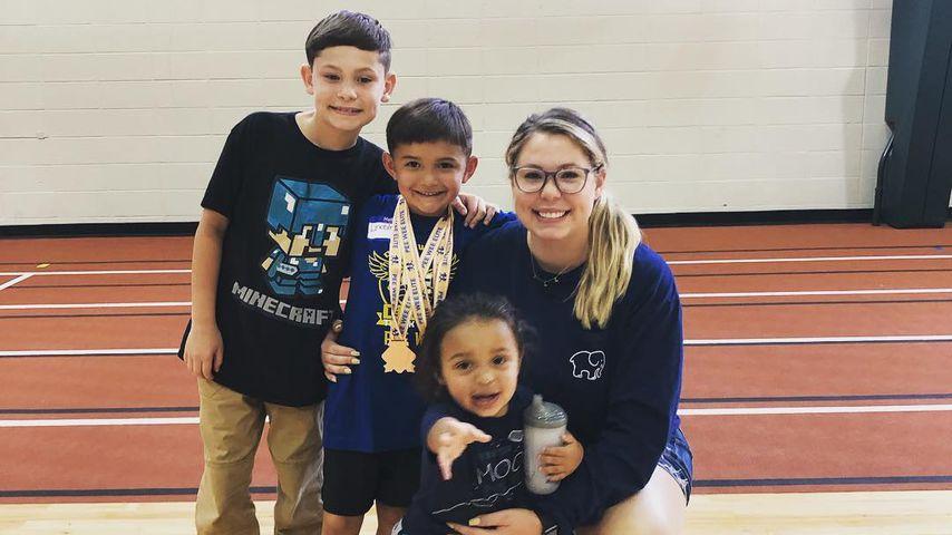 Kailyn Lowry mit ihren Söhnen Isaac, Lincoln und Lux im Mai 2019