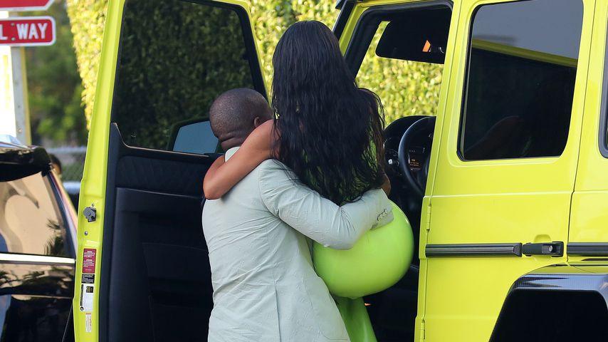 Kanye West und Kim Kardashian in Miami Beach