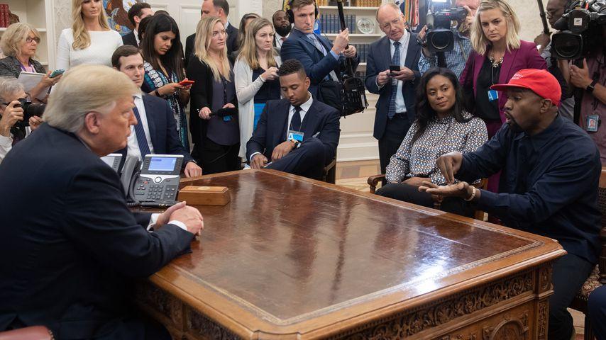 Kanye West bei einem Meeting mit Donald Trump