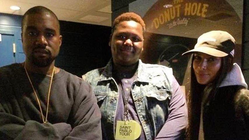 """Kanye West, Cameron Sterling und Kim Kardashian bei einem Konzert der """"Saint Pablo""""-Tour"""
