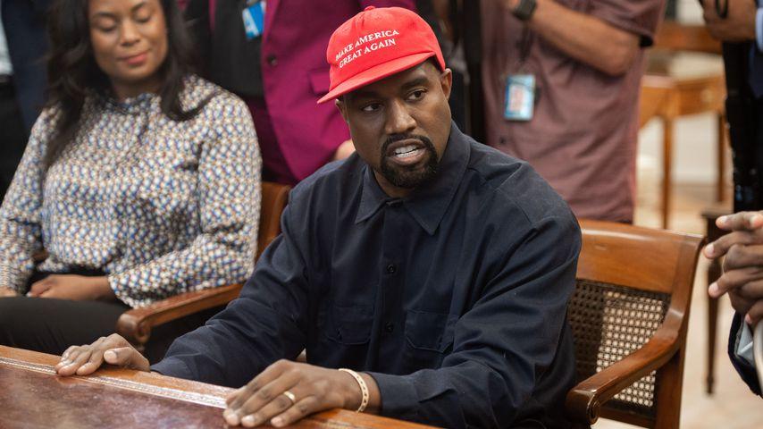 Kanye West während seines Treffens mit Donald Trump im Weißen Haus im Jahr 2018