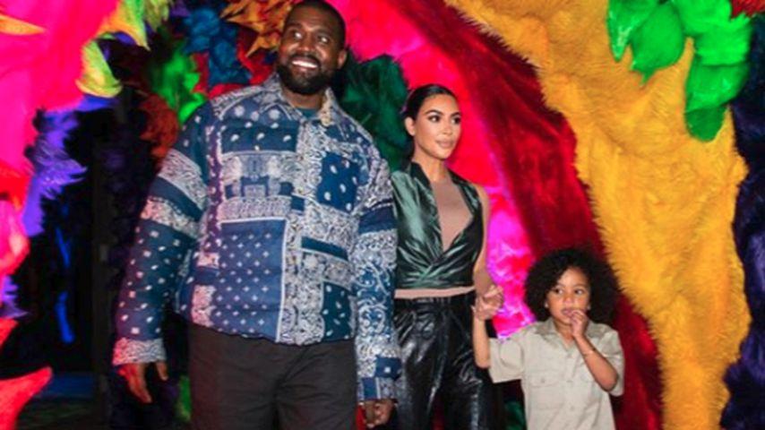 Kanye West, Kim Kardashian und Saint West