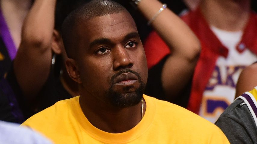 Kanye West bei einem Basketballspiel in Los Angeles 2016