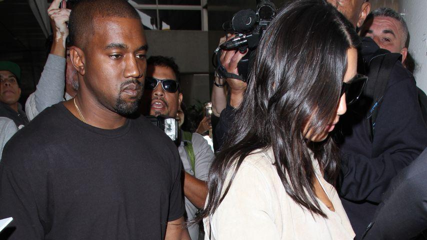 Kanye West und Kim Kardashian im Juni 2016 am Flughafen Los Angeles