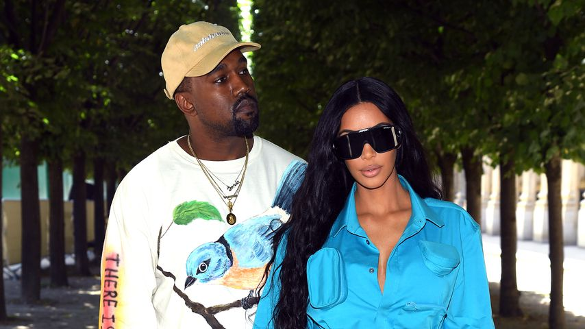Kanye West und Kim Kardashian auf der Paris Fashionweek 2018 in Paris