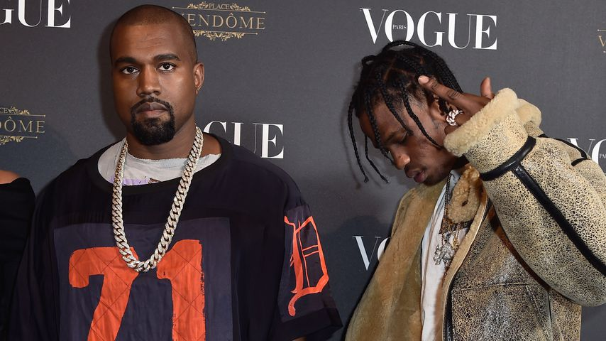 Kanye West und Travis Scott bei einer Vogue Party in Paris