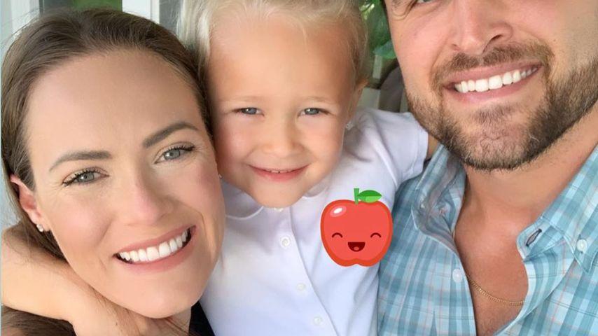 Kara Bosworth mit ihrer Tochter Decker und Ehemann Kyle