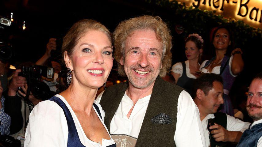Premiere: Thomas Gottschalk mit seiner Karina auf der Wiesn