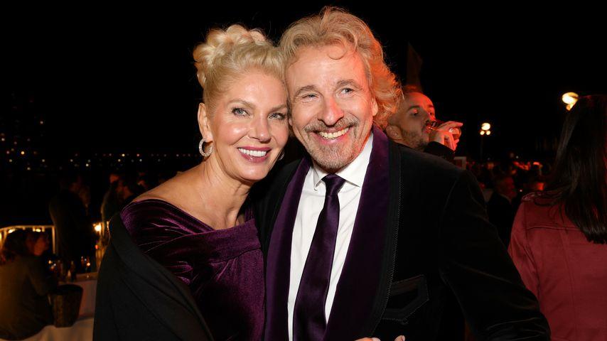 Karina Mroß und Thomas Gottschalk beim Deutschen Fernsehpreis in Köln, September 2021