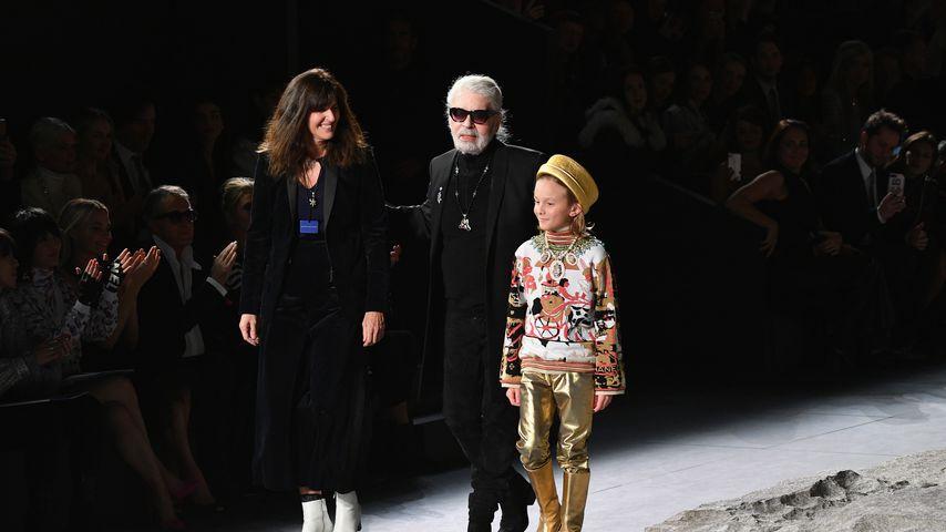Karl Lagerfeld und Virginie Viard bei einer Fashion Show in New York City