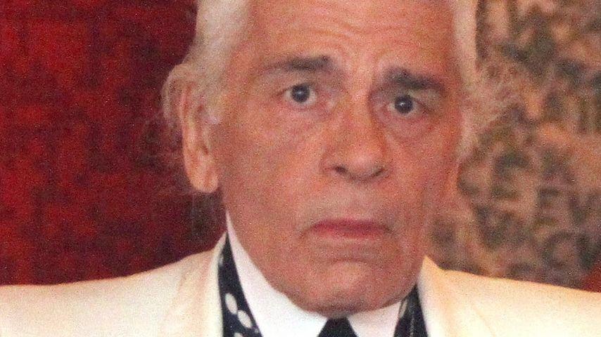 Krass! So sieht Karl Lagerfeld ohne Brille aus
