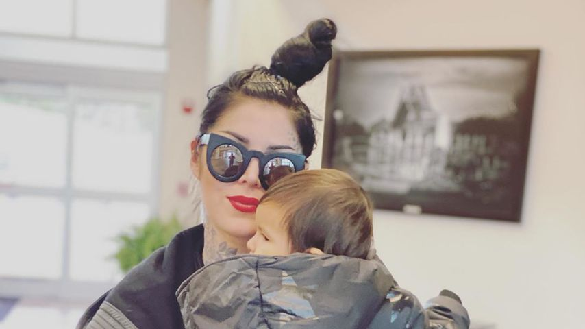 Kat Von D mit ihrem Sohn Leafar, Januar 2020