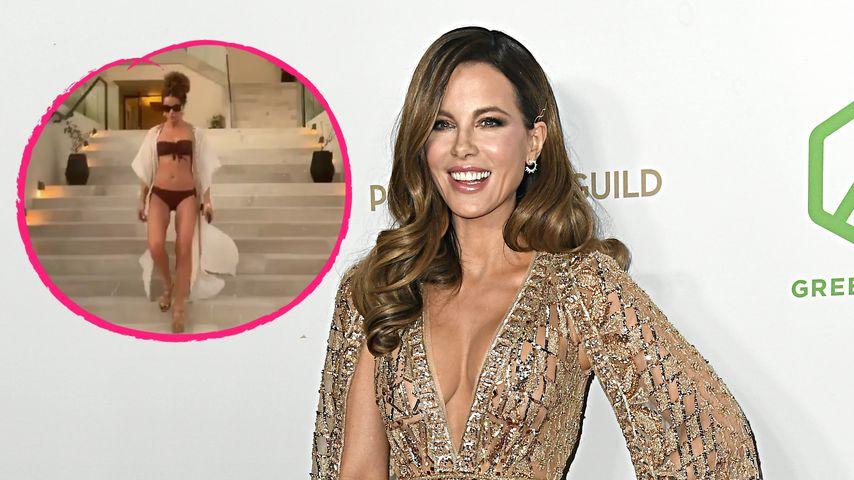 Kate Beckinsale (47) flasht ihre Fans mit heißem Bikini-Clip