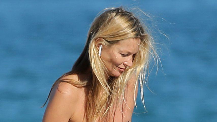 Strandtag in Miami: Model Kate Moss ganz natürlich unterwegs