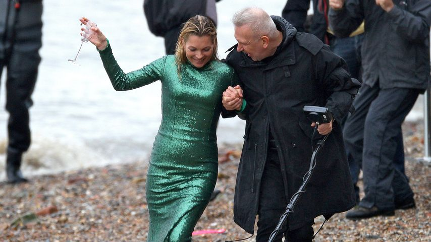 Kate Moss und Jean Paul Gaultier