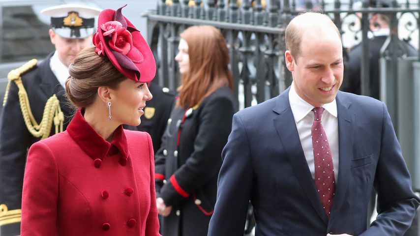 Herzogin Kate und Prinz William auf dem Weg zur Westminster Abbey