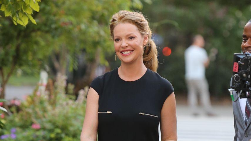 """Die schwangere Katherine Heigl bei den Dreharbeiten zu TV-Serie """"Doubt"""" in New York"""