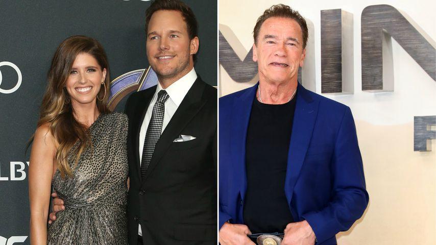 So süß unterstützen Chris Pratt und Katherine Papa Arnie