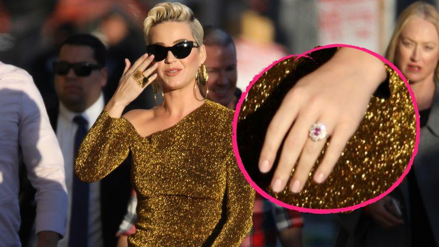 Katy Perry zeigt auf der Straße ihren Verlobungs-Klunker!