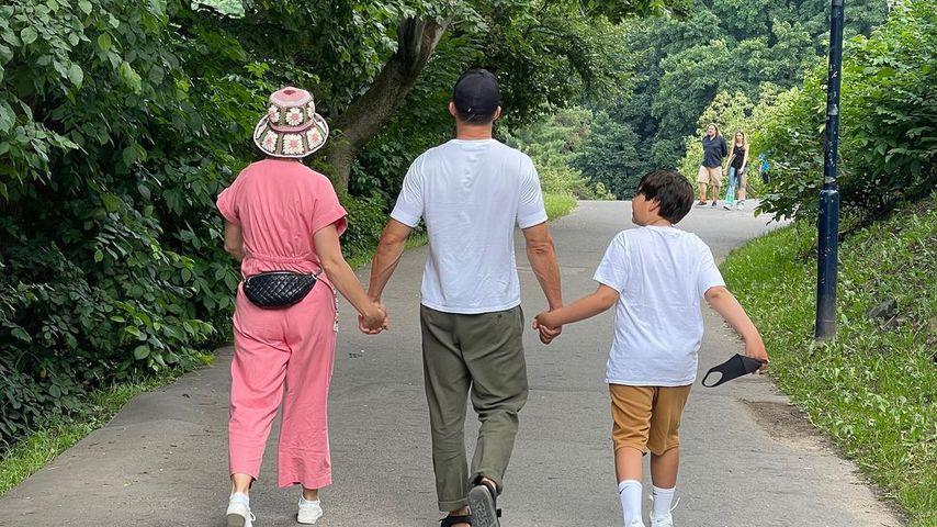 Katy Perry, Orlando Bloom und sein Sohn Flynn, Juni 2021